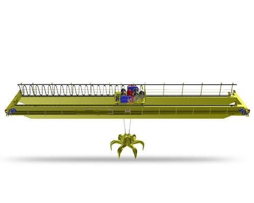 Double Girder Overhead Crane with Grab Bucket