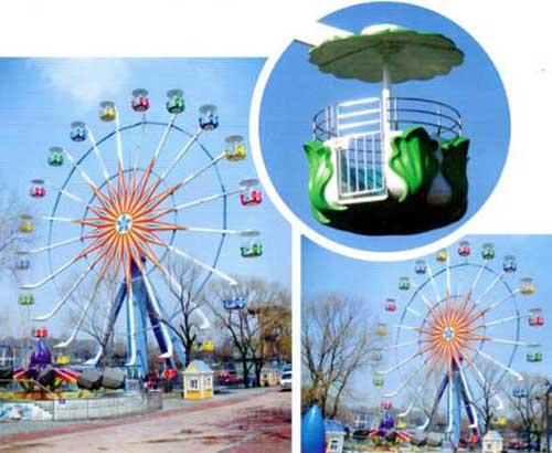 Grand ferris wheel for park use