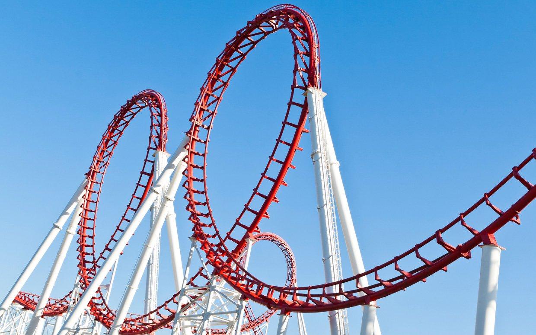 large roller coaster for park
