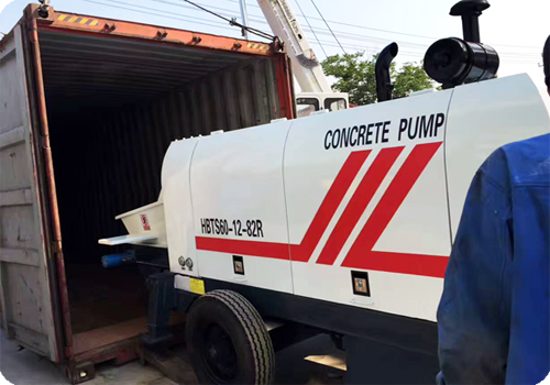 small trailer concrete pump